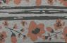 Pfirsichfarbende Blumen grau