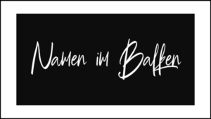 Name/Text im Balken