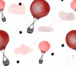 Ballonfahrt rot