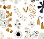Blumentraum dunkelblau