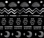 watercolour aztec black