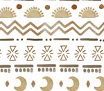 watercolour aztec gold