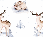 Winter Woodland Reh